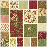Incarnadine 22 Fat Quarter Set by Robyn Pandolph for RJR
