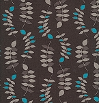 Jenaveve LVW02 Steel Grey Leaves by Valori Wells for Free Spirit