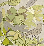 Jenaveve LVW04 Sage Floral Birds by Valori Wells for Free Spirit