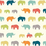 Just for Fun Organic Fun-03 Multi Ellie Fam by Birch Fabrics