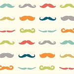 Just for Fun Organic Fun-07 Multi Staches by Birch Fabrics EOB