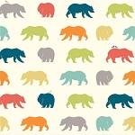 Just for Fun Organic Fun-06 Multi Bear Hike by Birch Fabrics