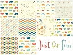 Just For Fun Organic 10 Fat Quarter Set by Birch Fabrics