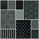 Katagami 10 Fat Quarter Set by Parson Gray for Free Spirit