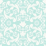 Kensington C3321 Blue Damask by Emily Taylor for Riley Blake