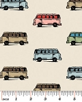 Vintage Scrapbook 3713-7 Tan Mini Vans by Benartex