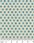 Vintage Scrapbook 3716-84 Turquoise On the Dot by Benartex