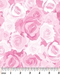 English Rosey 6437-1 Light Pink Rose Garden by Kanvas