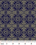 English Rosey 6439-55 Gold & Navy Lace Foulard by Kanvas
