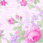Sausalito Cottage LH13000B Baby Pink Large Floral by Lakehouse