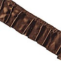"Lily & Will - 1 1/4"" Brown Satin Trim by Bunny Hill for Moda EOB"