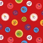 Little Kukla 12818-195 Bright by Suzy Ultman for Robert Kaufman