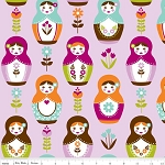 Little Matryoshka C3310-Purple Matryoshka Dolls by Riley Blake