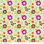 Little Matryoshka C3311 Green Floral by Carly Griffin for Riley Blake