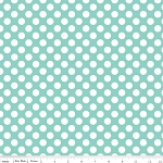Little Matryoshka C3313 Aqua Dots by Carly Griffin for Riley Blake
