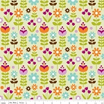 Little Matryoshka C3314 Green Garden by Carly Griffin for Riley Blake