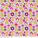 Little Matryoshka C3314 Purple Garden by Carly Griffin for Riley Blake