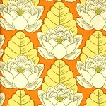 Lotus AB21 Tangerine Lotus Pond by Amy Butler