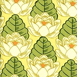 Lotus AB21 Yellow Lotus Pond by Amy Butler
