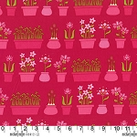 Lush DC5385 Raspberry Flower Shop by Patty Young for Michael Miller