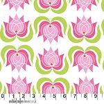 Lush DC5387 Pink Modern Lotus by Patty Young for Michael Miller EOB