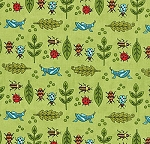 Meadow Friends 19490-13 Grass Bugs by Moda