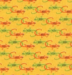Meadow Friends 19493-17 Sunshine Yellow Silly Salamanders by Moda