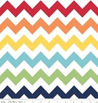 Chevron Medium C320-01 Rainbow by Riley Blake