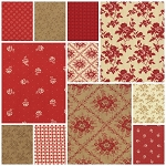 Midwinter Reds 11 Fat Quarter Set by Minnick & Simpson for Moda