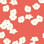 Mod Basics Organic MB2-03 Coral Poppies by Birch Fabrics