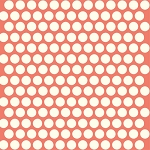 Mod Basics Organic MB-01 Cream on Coral Dottie by Birch Fabrics