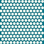 Mod Basics Organic MB-01 Cream on Teal Dottie by Birch Fabrics