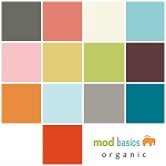 Mod Basics Organic Solids 14 Fat Quarter Set for Birch Fabrics