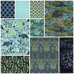 Moonshine 9 Fat Quarter Set in Meadow by Tula Pink for Free Spirit