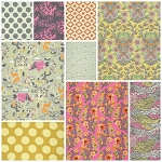 Moonshine 9 Fat Quarter Set in Dandelion by Tula Pink for Free Spirit