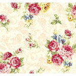 Elegant Roses QMS30752-11A in Cream by Kilala