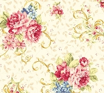 Elegant Roses QMS30752-12A in Cream by Kilala