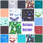 Natural History 19 Fat Quarter Set by Lizzy House for Andover