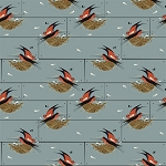 Charley Harper Nurture Organic Canvas D-12 Barn Swallow by Birch