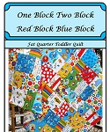 One Block Two Block Red Block Blue Block Quilt Pattern by C Westberg