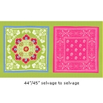 Ooh La La DC5206 Lime Le Bandana Panel by Michael Miller