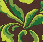Oops A Daisy 32483-18 Brown Fern by Keiki for Moda