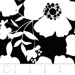 Opposites Attract 4141301-1 White on Black Big Floral by Camelot