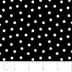 Opposites Attract 4141307-1 Black Ditsy Dot by Camelot