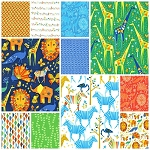 Origami Oasis 11 Fat Quarter Set by Tamara Kate for Michael Miller