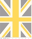 Union Jack P571 Yellow Panel by Riley Blake