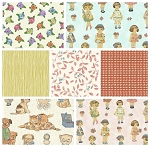 Paper Dolls 7 Fat Quarter Set by Sheryl Rae Marquez for Windham