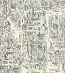 Passport 33010-20 Black & White New York City Map by Moda