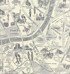 Passport 33012-16 Black & White London Map by Moda
