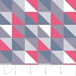 Pastel Me More 2141601-3 Grey Triangles by Camelot